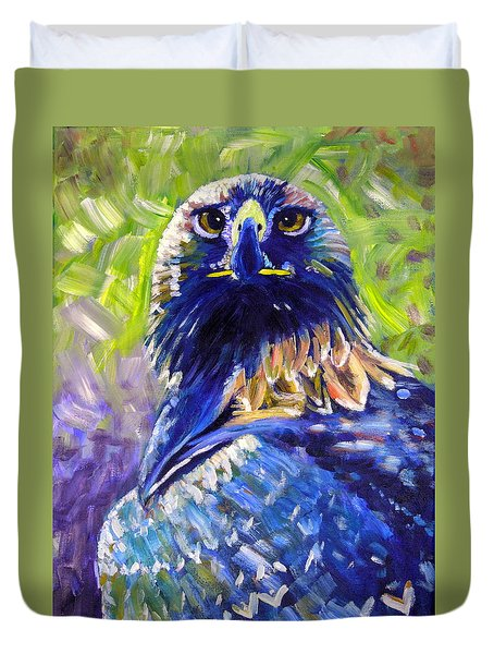 Eagle On Alert Duvet Cover