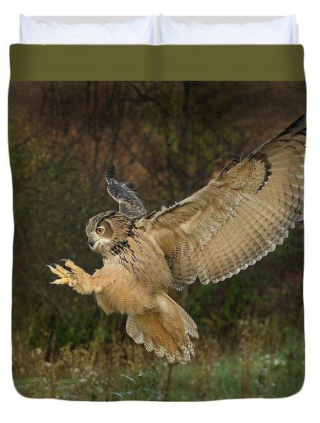 Eagle-owl Wings Back Duvet Cover