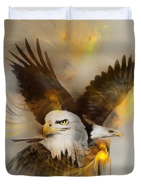 Eagle Pair Duvet Cover