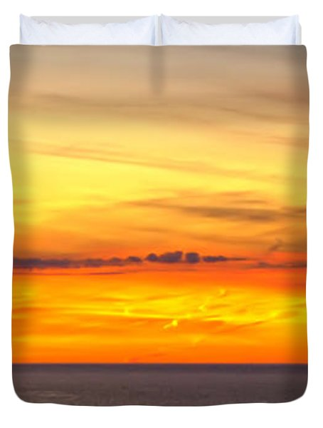 Eagle Panorama Sunset Duvet Cover