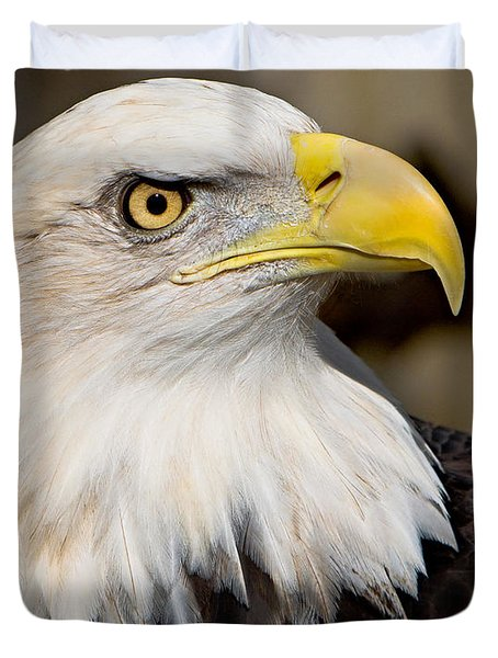 Eagle Power Duvet Cover by William Jobes