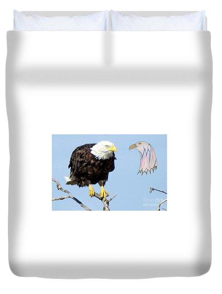 Eagle Reflection Duvet Cover