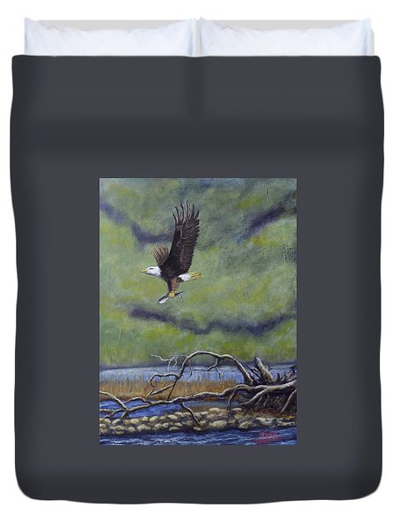 Eagle River Duvet Cover by Dan Wagner