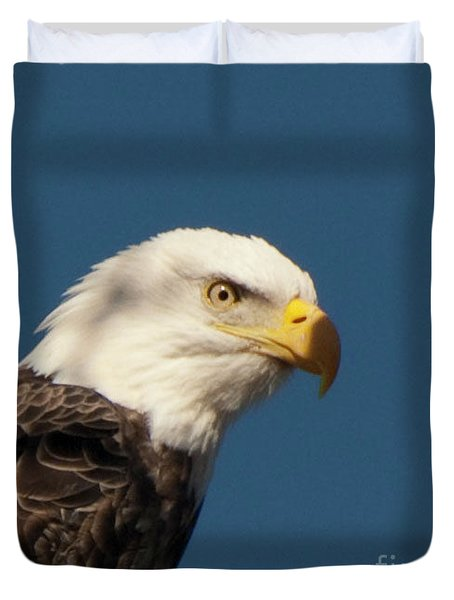 Duvet Cover featuring the photograph Eagle by Rod Wiens