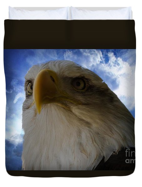 Eagle Duvet Cover by Sherman Perry