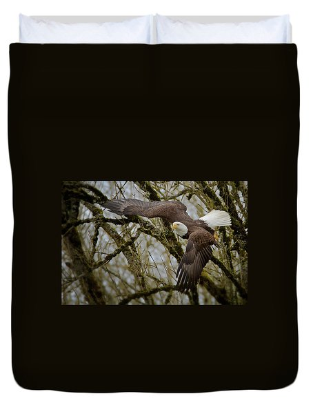 Eagle Take Off Duvet Cover