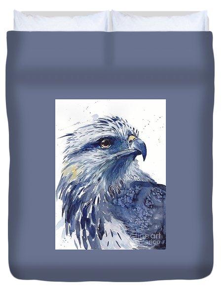 Eagle Watercolor Duvet Cover