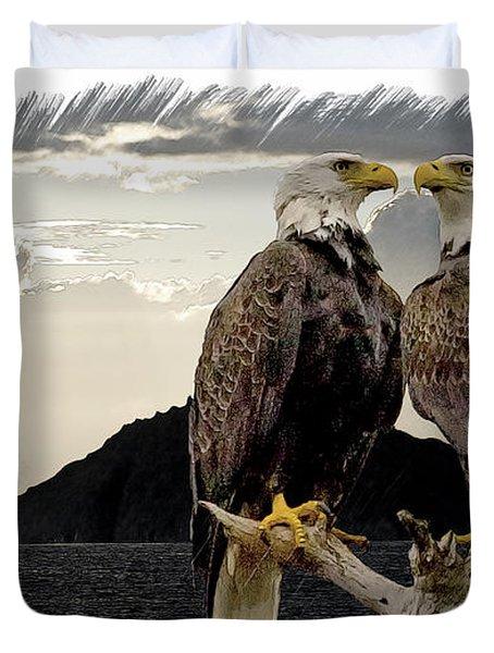 Eagles At Dawn  Duvet Cover