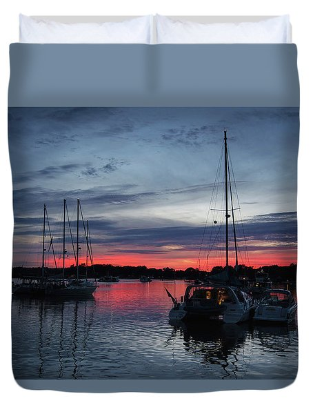 Eagles Cove Sunset Duvet Cover