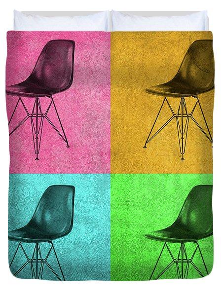 Eames Chair Vintage Pop Art Duvet Cover