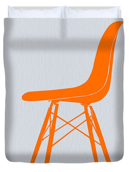 Eames Fiberglass Chair Orange Duvet Cover