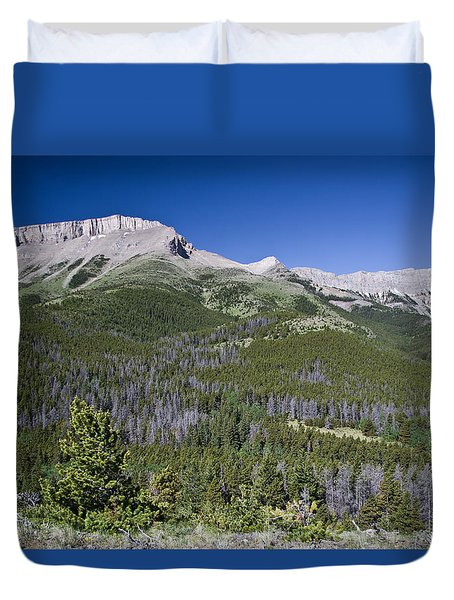 Ear Mountain, Montana Duvet Cover