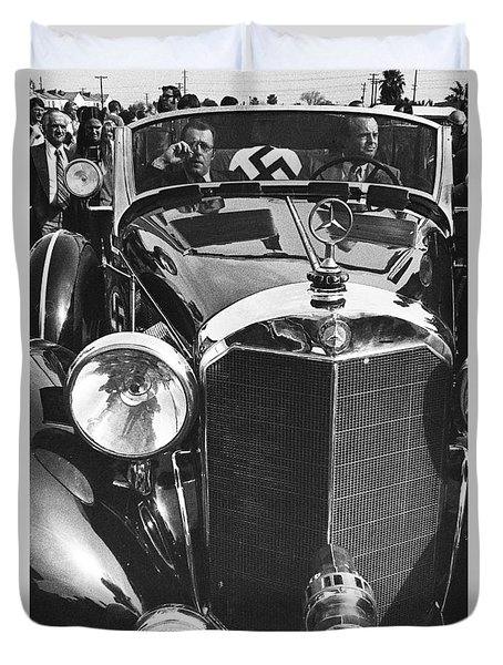 Earl Clark  Tom Barrett Adolf Hitlers Mercedes Benz 770k Car Scottsdale Az 1973 Duvet Cover