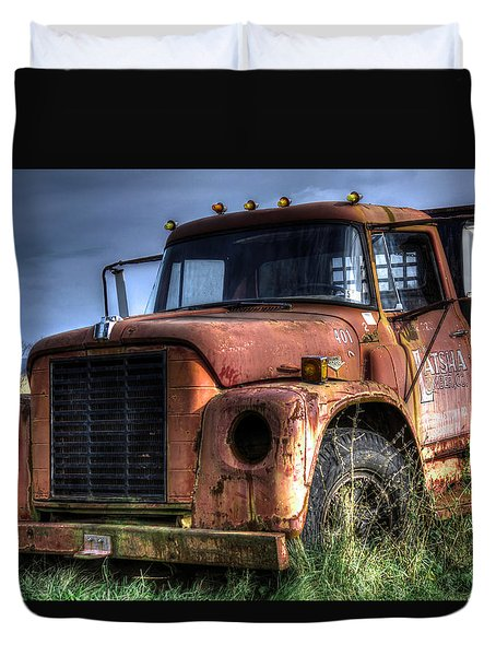 Duvet Cover featuring the photograph Earl Latsha Lumber Company Version 3 by Shelley Neff