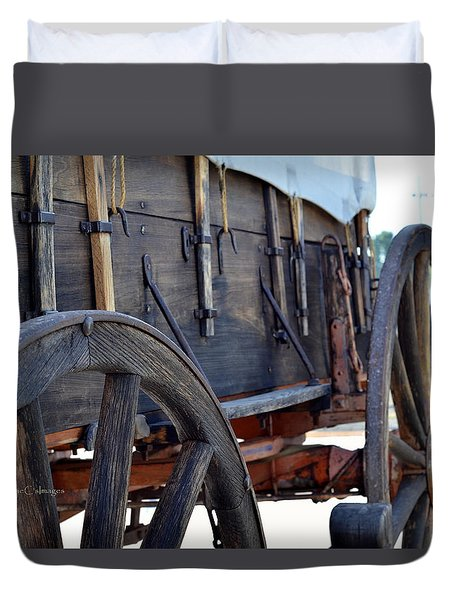 early 1900s Farm Wagon Duvet Cover