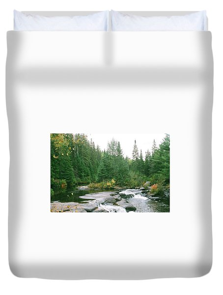 Early Autumn On The Madawaska River Duvet Cover