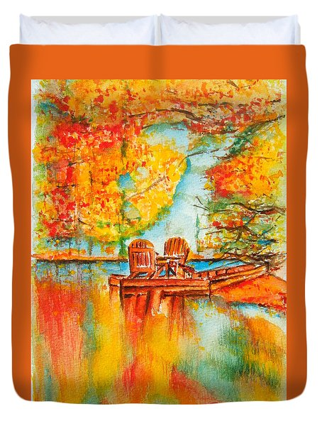 Early Autumn Reflections Duvet Cover