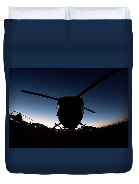 Duvet Cover featuring the photograph Early Bird by Paul Job