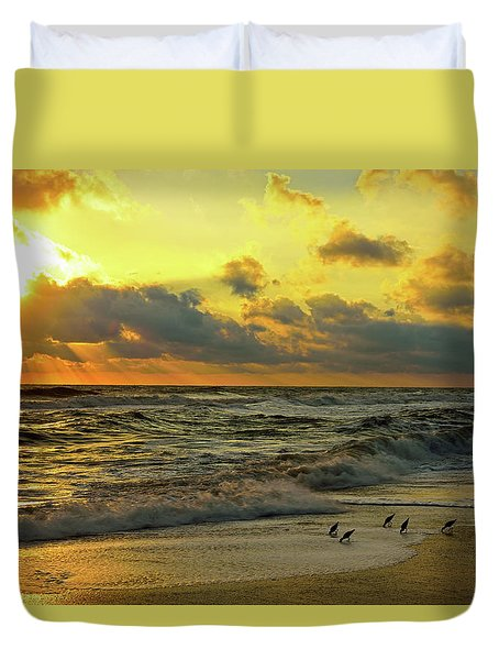 Early Bird Special Duvet Cover
