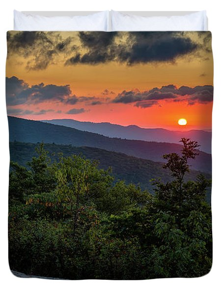 Blue Ridge Parkway Sunrise - Beacon Heights - North Carolina Duvet Cover