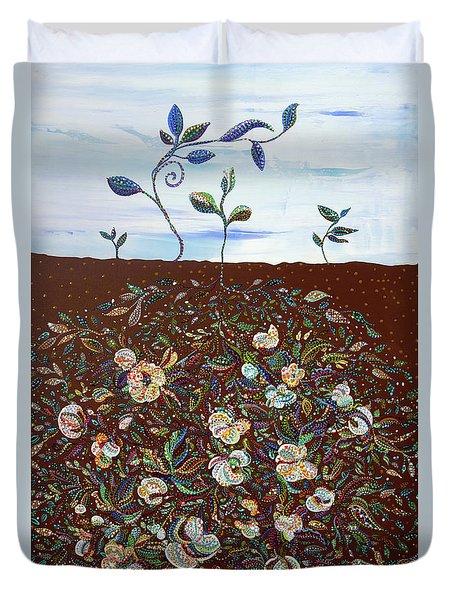 Early Cotton  Duvet Cover by Erika Pochybova