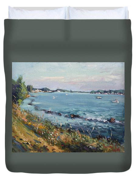 Early Evening At Gratwick Waterfront Park Duvet Cover