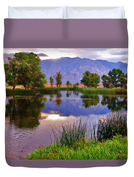Early Evening Reflections Duvet Cover