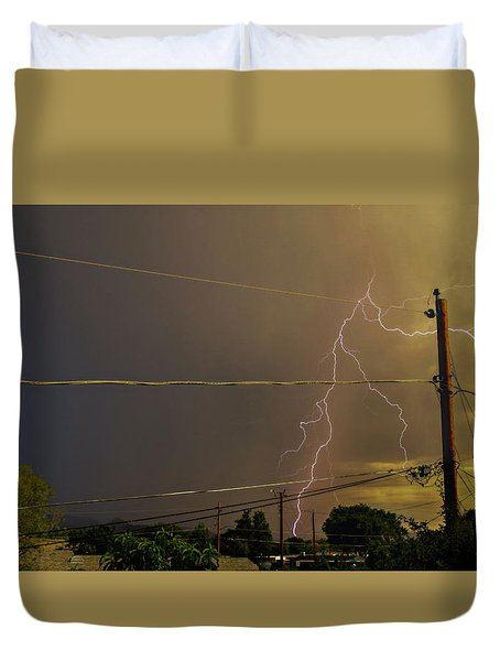 Early Evening Storm Duvet Cover