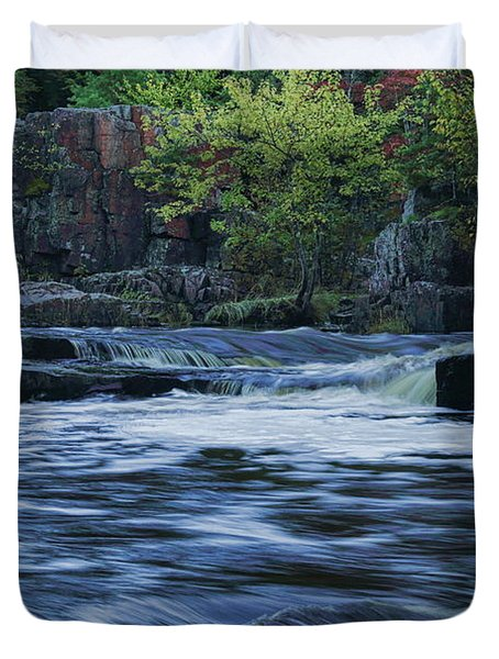 Early Fall At Eau Claire Dells Park Duvet Cover