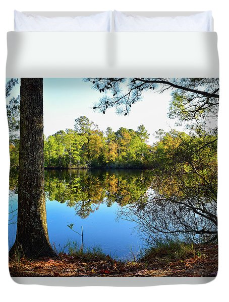 Early Fall Reflections Duvet Cover