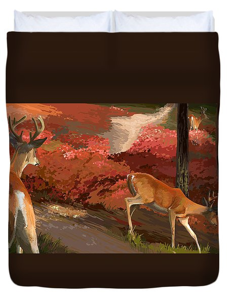 Early Fall Whitetail Duvet Cover
