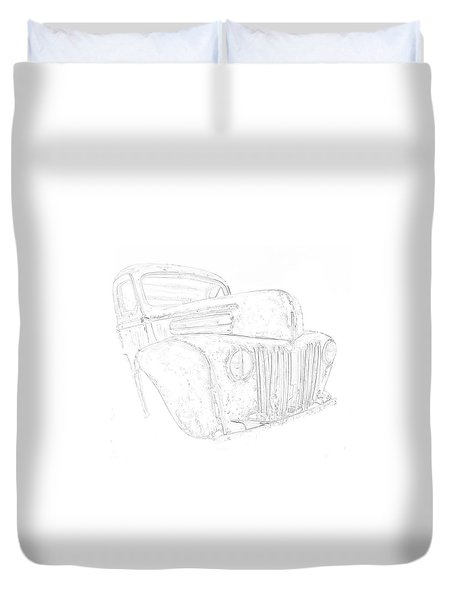 Early Ford Truck Duvet Cover