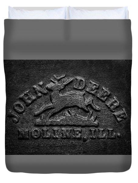 Early John Deere Emblem Duvet Cover
