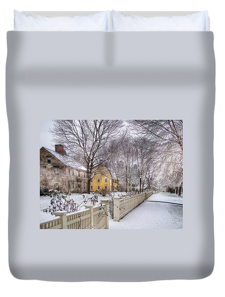 Early Massachusetts Duvet Cover