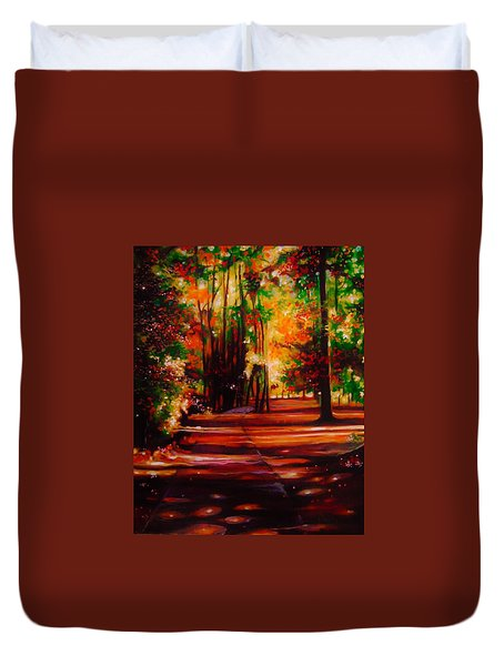 Duvet Cover featuring the painting Early Monday Morning by Emery Franklin