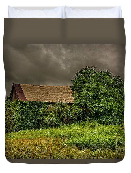 Early Monring Rain Duvet Cover