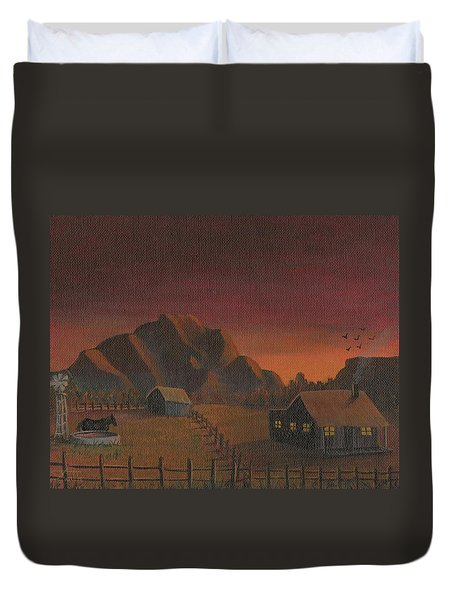 Early Mornin' Duvet Cover by Sheri Keith