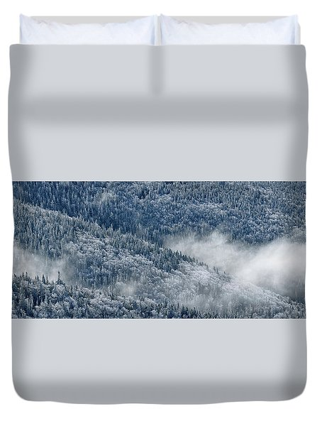 Early Morning After A Snowfall Duvet Cover
