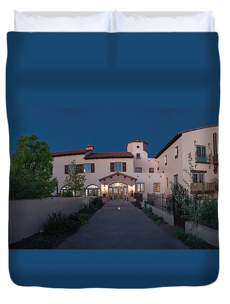 Early Morning At La Posada Duvet Cover by Charles Ables