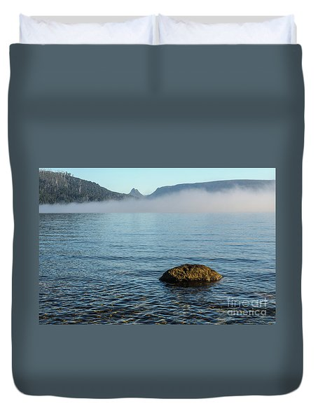 Duvet Cover featuring the photograph Early Morning At Lake St Clair by Werner Padarin