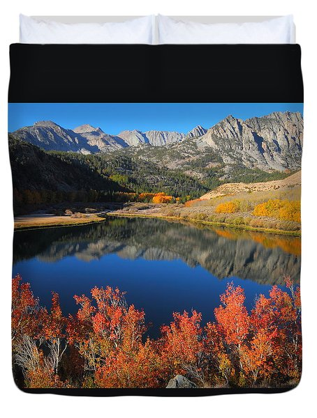 Early Morning At North Lake In Bishop Creek Canyon Duvet Cover by Jetson Nguyen