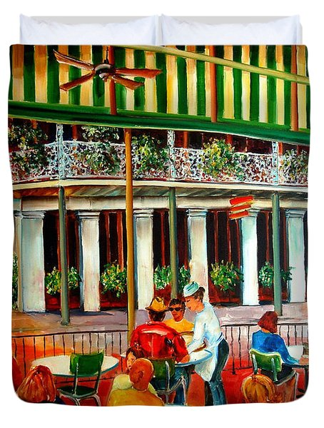Early Morning At The Cafe Du Monde Duvet Cover