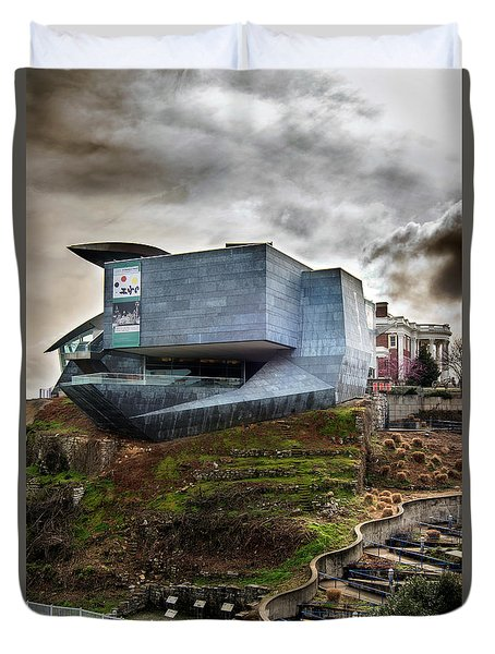 Early Morning At The Hunter Museum Duvet Cover by Greg Mimbs
