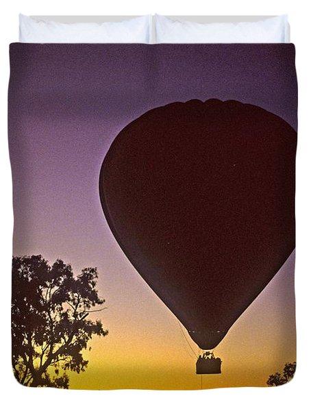 Early Morning Balloon Ride Duvet Cover