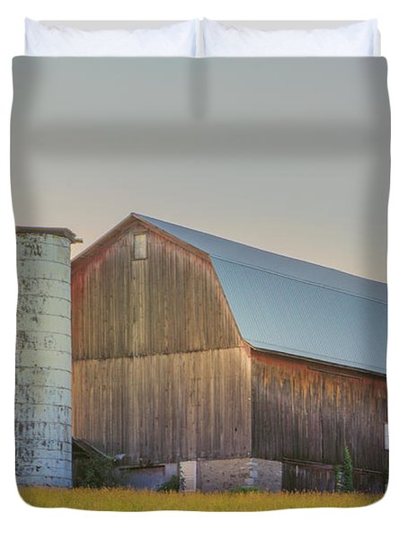 Early Morning Barn Duvet Cover