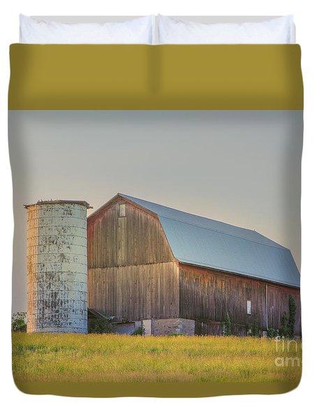 Early Morning Barn Duvet Cover