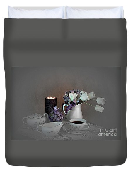 Early Morning Coffee Duvet Cover