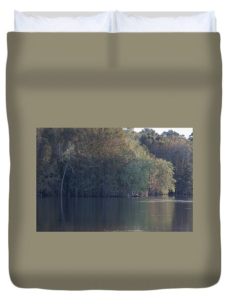 Early Morning Cove - Lake Marion Duvet Cover by Suzanne Gaff