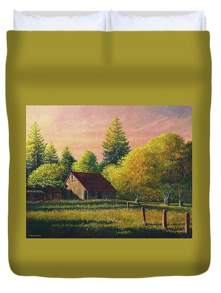 Early Morning Farm Duvet Cover