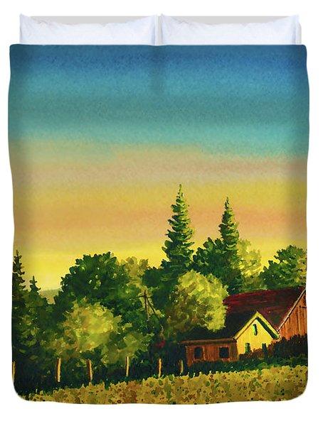 Early Morning Farmhouse Duvet Cover